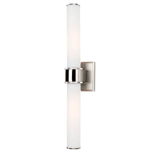 Hudson Valley Mill Valley Two-Light Satin Nickel Sconce