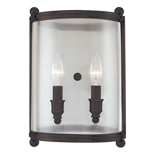Mansfield Two-Light Distressed Bronze Sconce