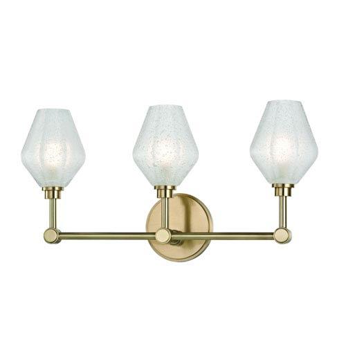 Orin Aged Brass LED Bath Sconce