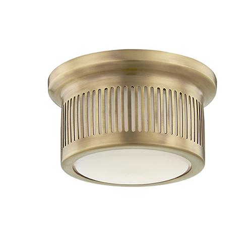 Bangor Aged Brass LED 6-Inch Flush Mount