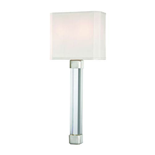 Larissa Polished Nickel Two-Light Wall Sconce