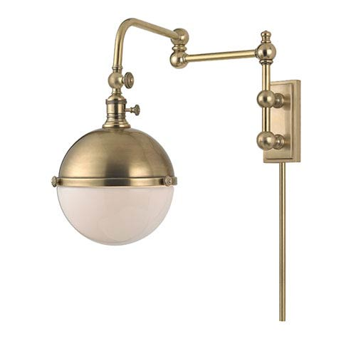 Stanley Aged Brass Seventeen-Inch Wall Sconce