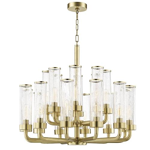 Soriano Aged Brass 20-Light 32-Inch Chandelier