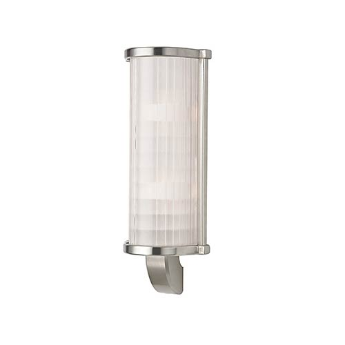 Hudson Valley Arcadia Satin Nickel Two-Light Wall Sconce with Frosted Etched Glass