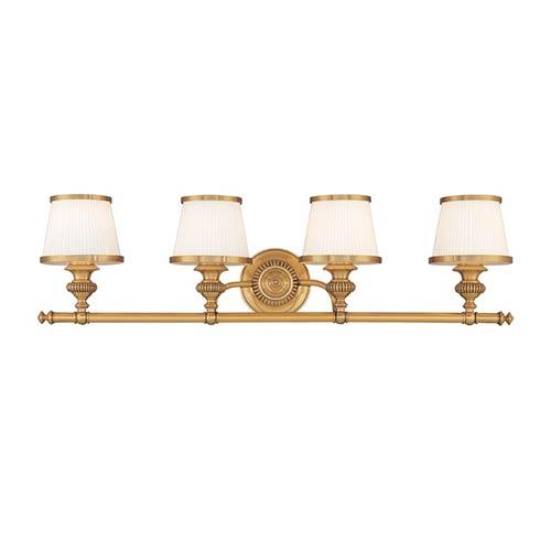Milton Flemish Brass Four-Light Bath Fixture