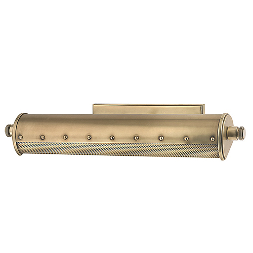 Gaines Aged Brass Two-Light 18-Inch Wide Picture-Light
