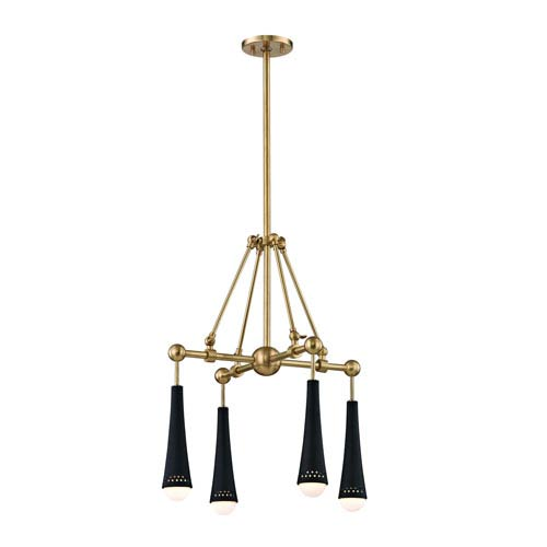 Tupelo Aged Brass LED Chandelier