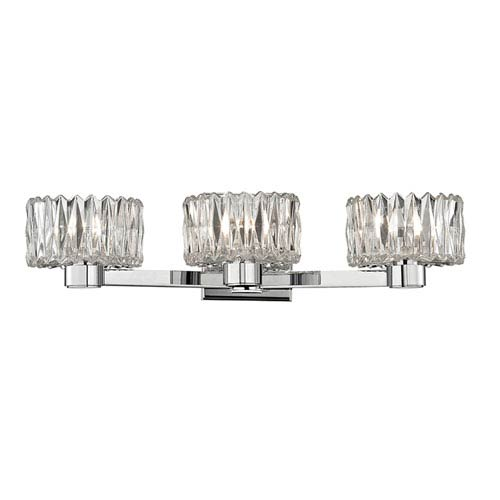 Anson Polished Chrome Three-Light Vanity Fixture