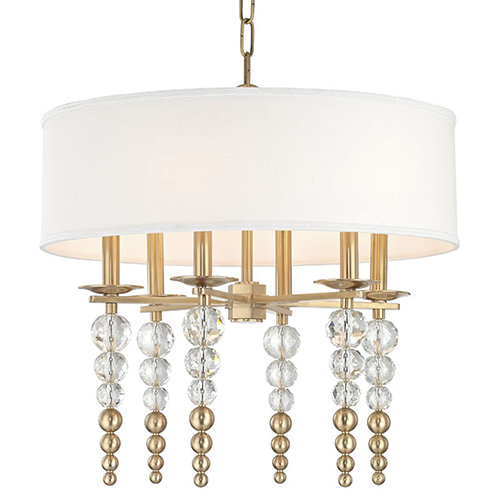 Persis Aged Brass 6-Light 24-Inch Pendant