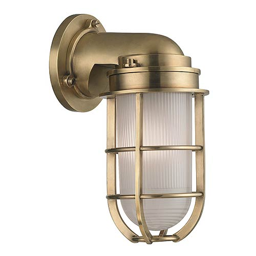Bulkhead outdoor wall light bellacor hudson valley carson aged brass one light wall sconce aloadofball Images