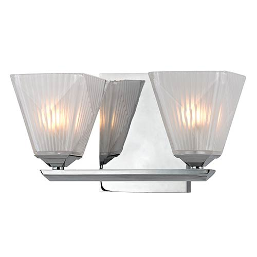 Hudson Valley Hammond Polished Chrome Two-Light Bath Light Fixture