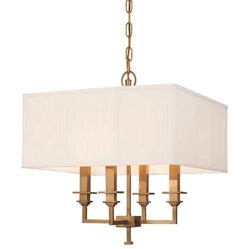 Berwick Aged Brass Four-Light Pendant
