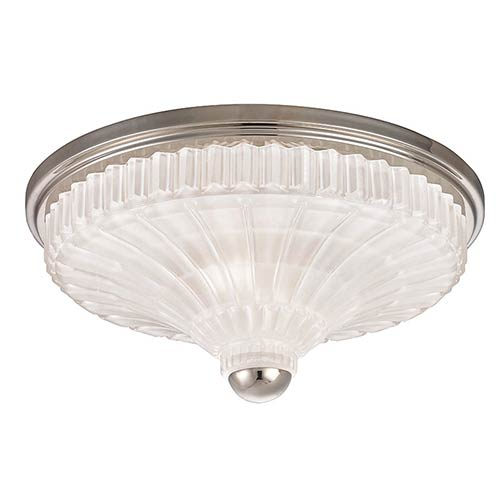 Paris Polished Nickel Two-Light Flush Mount