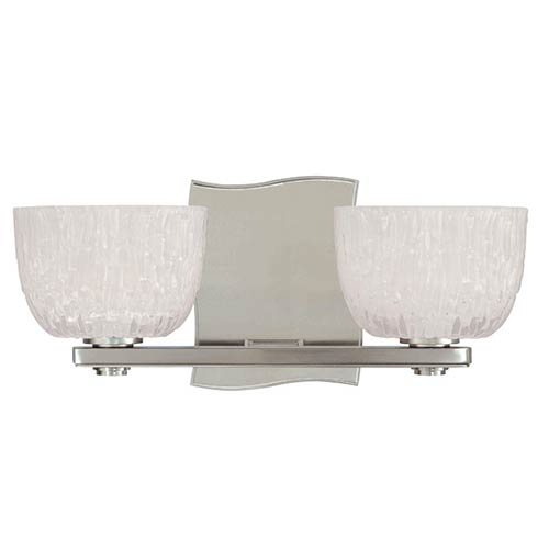 Hudson Valley Cove Neck Satin Nickel Two-Light Bath Light