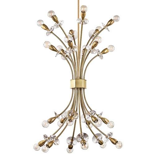 Hudson Valley Alexandria Aged Brass 24-Light Chandelier