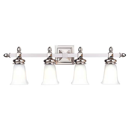 Cumberland Polished Nickel Four-Light Bath Strip