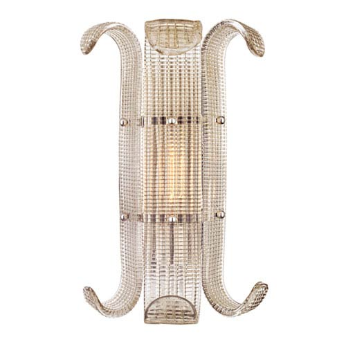 Brasher Polished Nickel One-Light Wall Sconce
