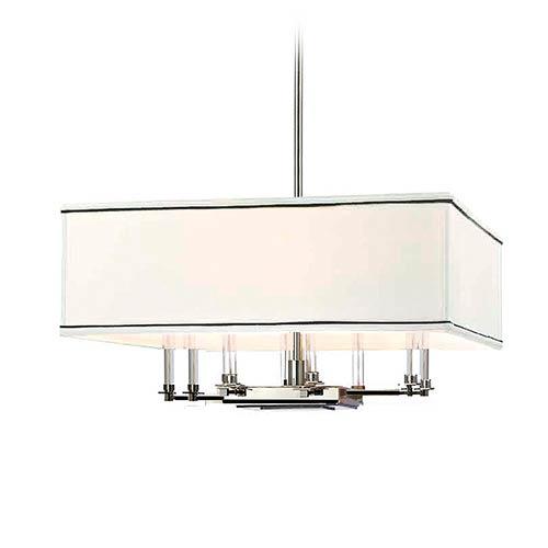 Hudson Valley Lighting Barrington: Hudson Valley Hastings Polished Nickel Eight Light Pendant