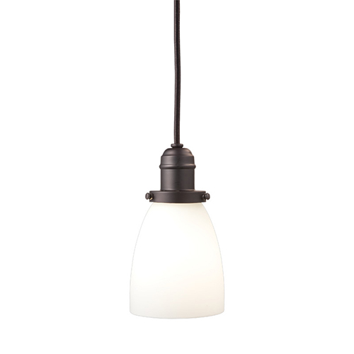 Hudson Valley Vintage Old Bronze One-Light 14-Inch Pendant with Opal Matte Glass