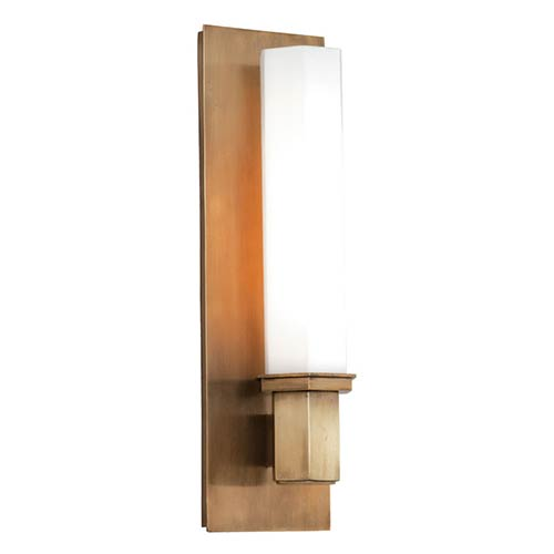Hudson Valley Walton Aged Brass One-Light Sconce
