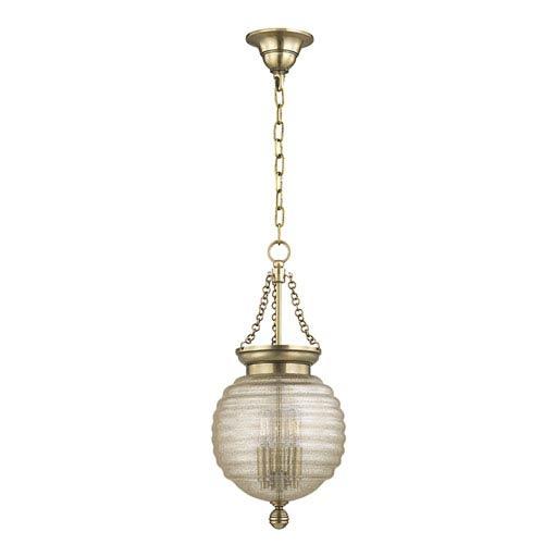 Coolidge Aged Brass Three-Light Pendant