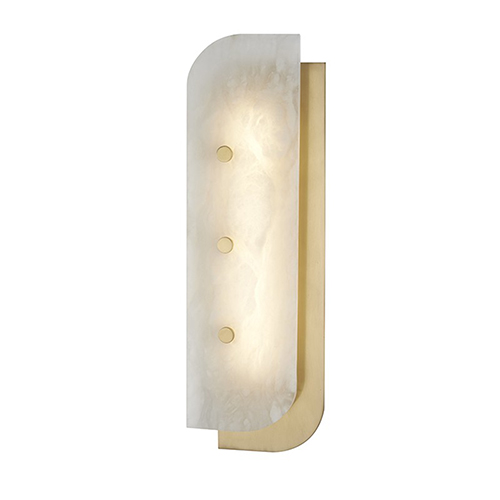 Yin and Yang Aged Brass LED 5.5-Inch Wall Sconce