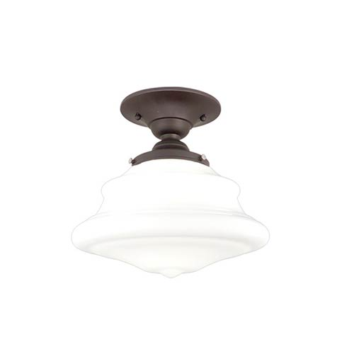 Hudson Valley Petersburg Old Bronze 10-Inch One-Light Semi Flush