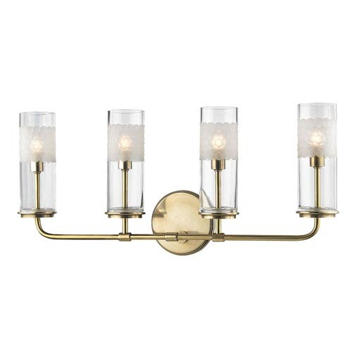 Wentworth Aged Brass Four-Light Wall Sconce