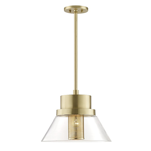 Paoli Aged Brass 1-Light 15.5-Inch Pendant