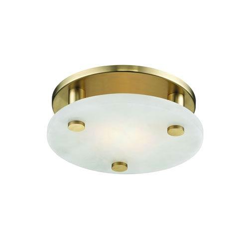 Croton Aged Brass Nin-Inch LED Flush Mount