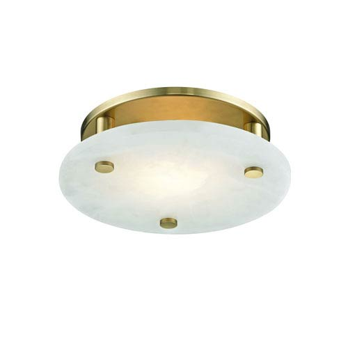 Croton Aged Brass 12-Inch LED Flush Mount