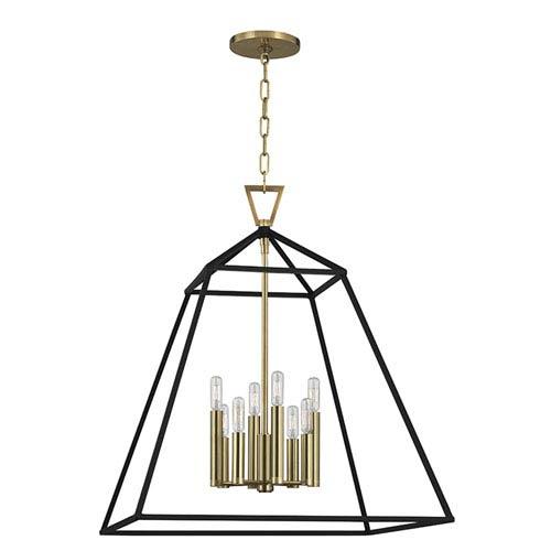 Hudson Valley Webster Aged Brass Eight-Light Pendant