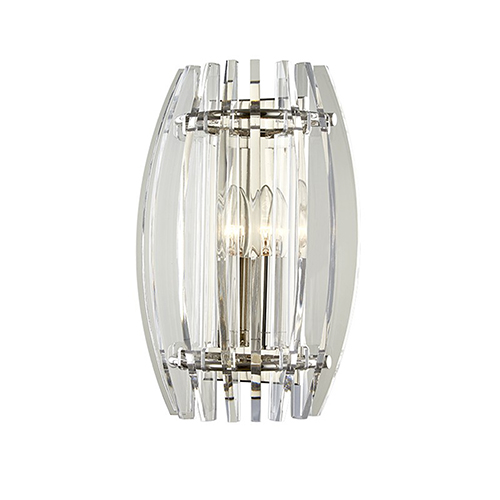 Hudson Valley Freeze Polished Nickel 2-Light 9.5-Inch Wall Sconce