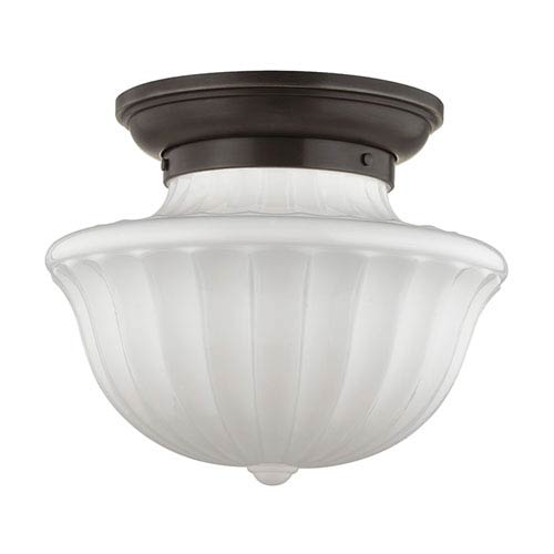 Hudson Valley Lighting Dutchess: Hudson Valley Savona Old Bronze Two Light Semi Flush With