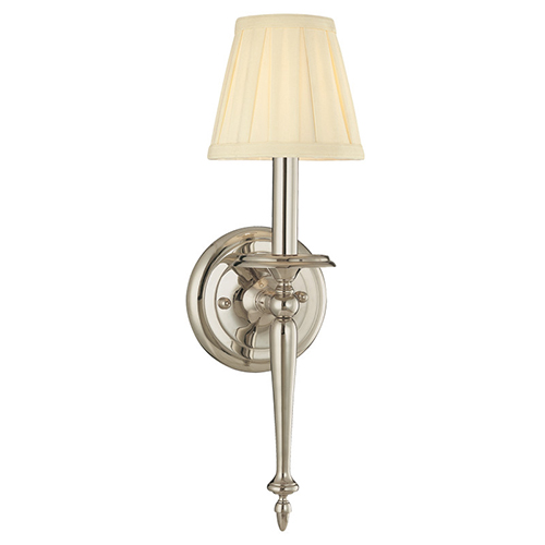 Jefferson Polished Nickel One-Light Wall Sconce