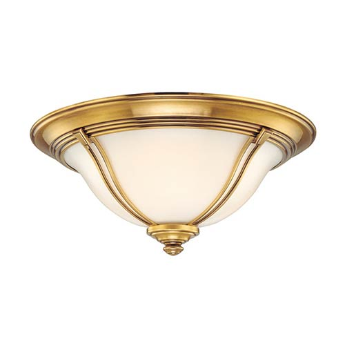 Carrollton Flemish Brass Three-Light Flush Mount