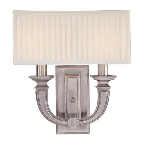 Hudson Valley Phoenicia Historic Nickel Two-Light Sconce