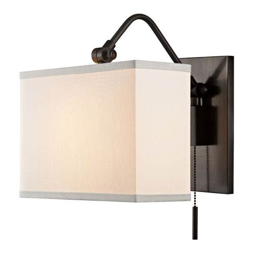 Pull chain wall sconce bellacor hudson valley leyden old bronze one light wall sconce aloadofball Image collections