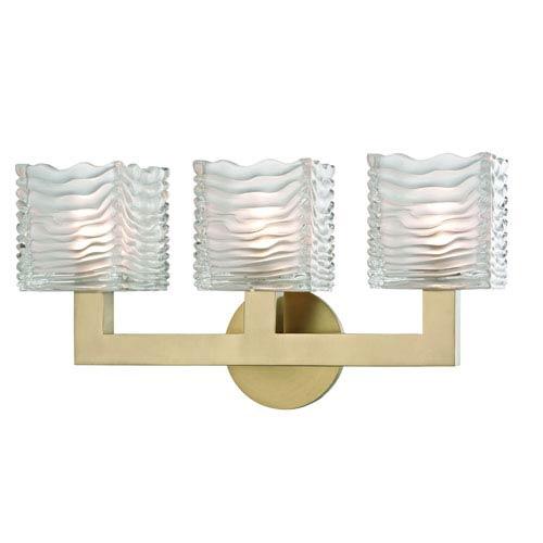 Sagamore Aged Brass LED Bath Sconce