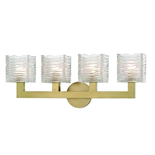 Hudson Valley Sagamore Aged Brass LED Bath Vanity