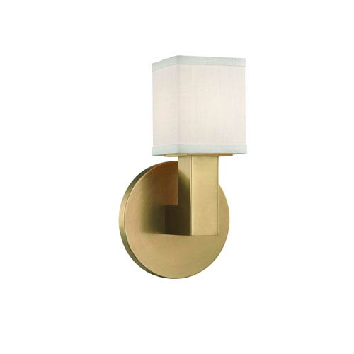 Hudson Valley Clarke Aged Brass LED Wall Sconce