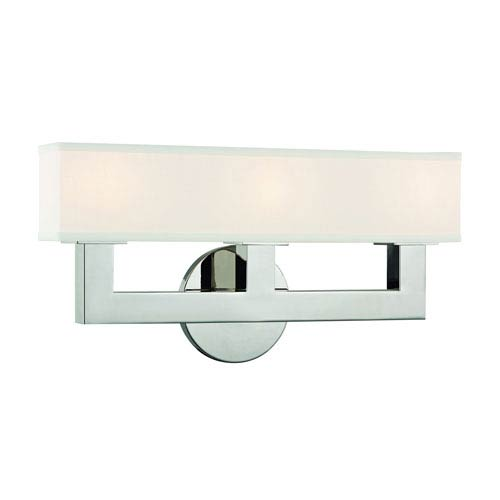 Clarke Polished Nickel LED Wall Sconce