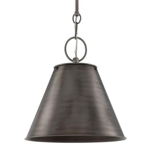 Altamont Historic Nickel 15-Inch One-Light Pendant