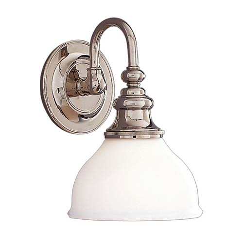 Sutton Polished Nickel One-Light Bath Fixture