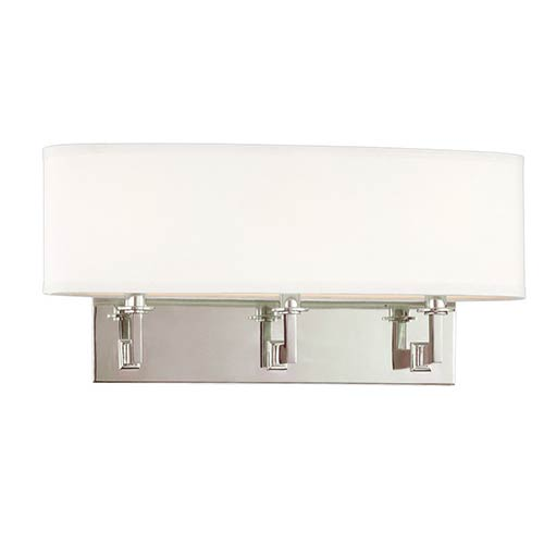 Hudson Valley Grayson Polished Nickel Three-Light Sconce