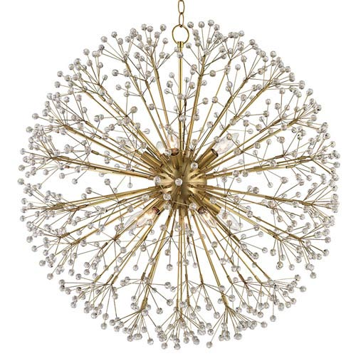 Dunkirk Aged Brass 10-Light Chandelier