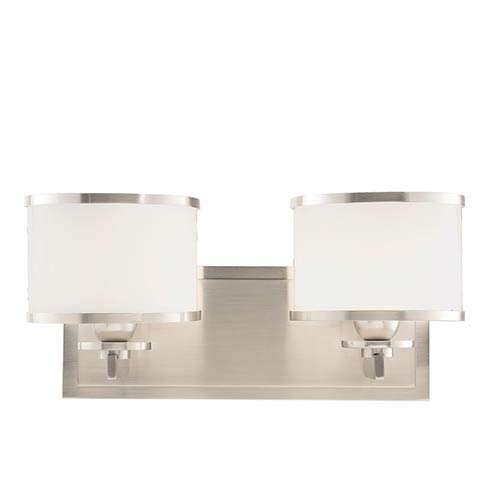 Hudson Valley Basking Ridge Satin Nickel Two-Light Bath Light