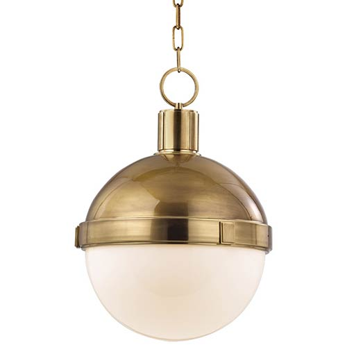 Lambert Aged Brass 14.5-Inch Pendant