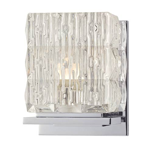 Hudson Valley Torrington Polished Chrome One-Light Bath Light Fixture with Clear Glass