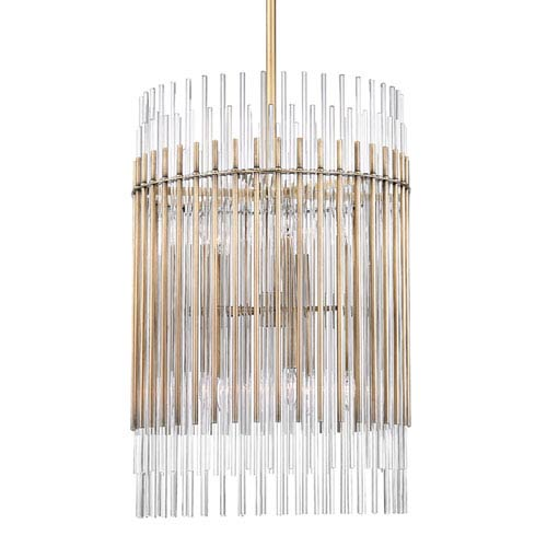 Wallis Aged Brass Ten-Light Pendant